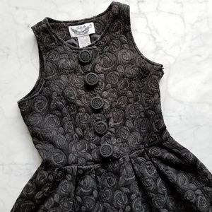 BB Dakota Dark Gray Fit Flare Dress - S